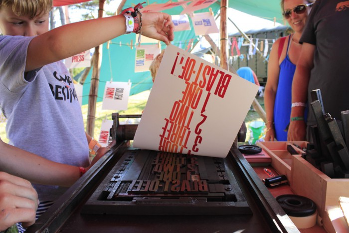 Badger Press Letterpress Camp Bestival